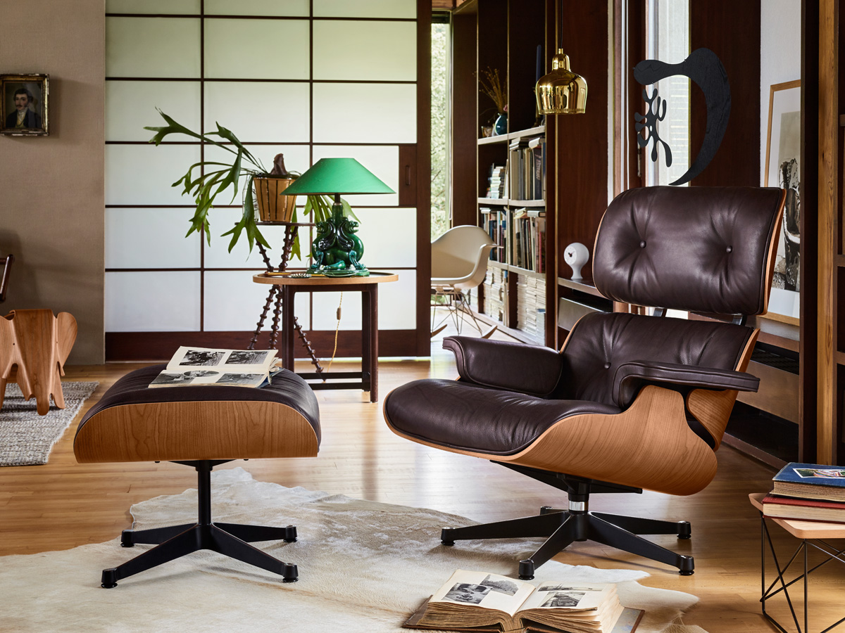 chair black eames walnut chaplins by ray lounge shop vitra charles