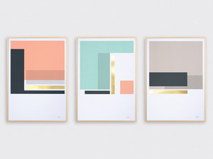 Tom Pigeon Harbour Set of 3 Screen Prints