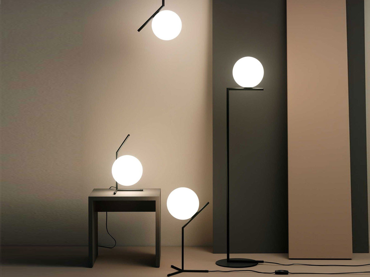 Buy The Flos Ic F1 Floor Lamp Black Special Edition At