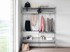 String Bedroom Shelving System Grey