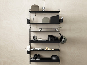 String Shelving System Medium - Black