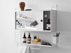 String Shelving System Bathroom Cabinet White