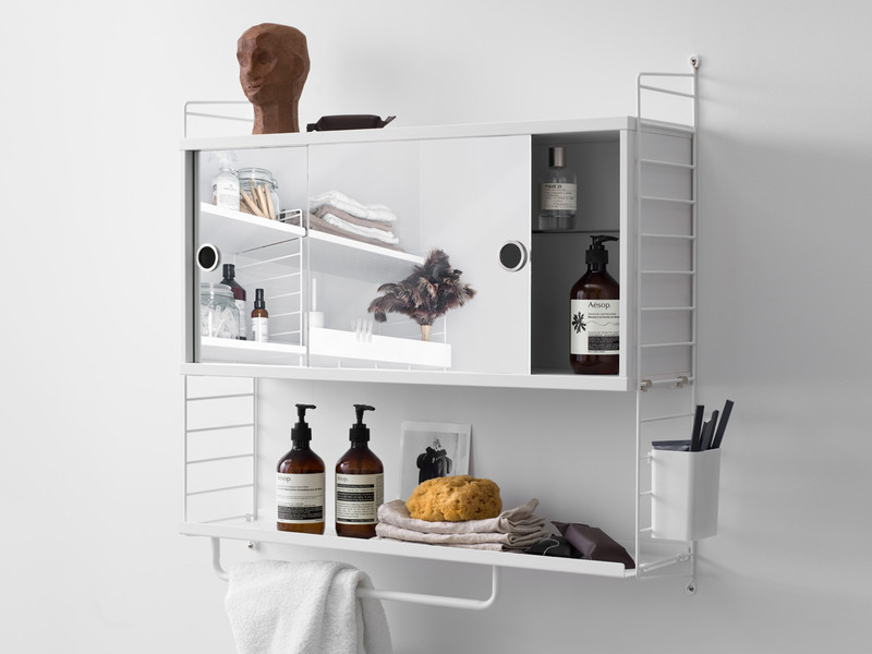 small bathroom shelves white buy the string shelving system bathroom cabinet white at 20488