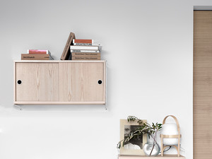 String Bedroom Shelving System Ash & White