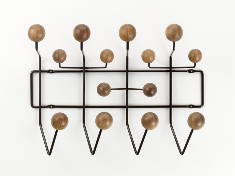 Vitra Eames Hang It All - Walnut & Chocolate
