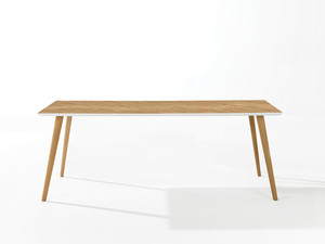 Arper Gher Rectangular Table Natural Oak