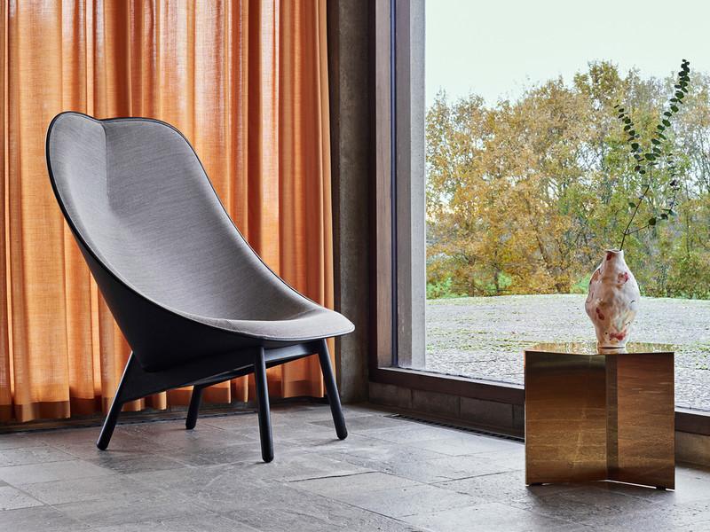 Hay Uchiwa Lounge Chair Black Base