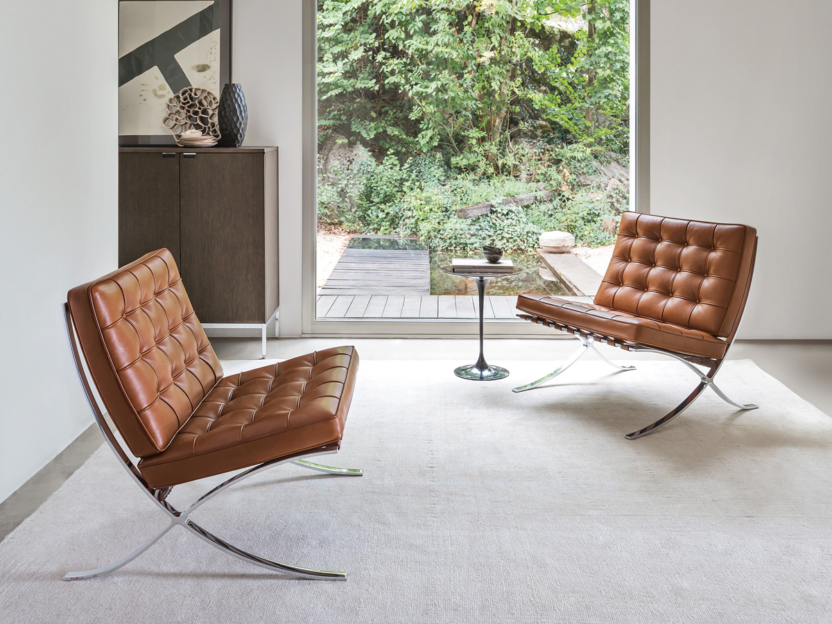 Buy The Knoll Studio Knoll Barcelona Chair Relax Version