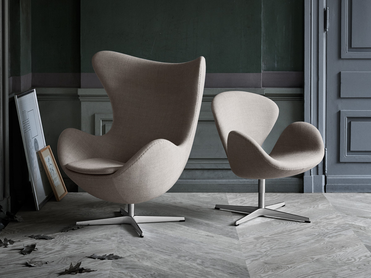 buy the fritz hansen swan chair fabric at nest co uk