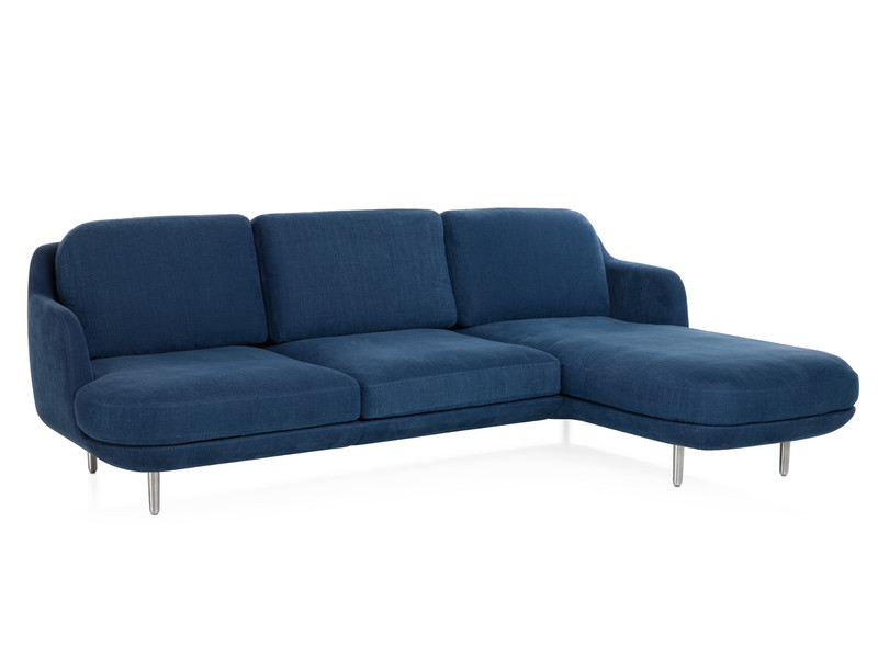 Fritz Hansen Lune Three Seater Sofa with Chaise Longue