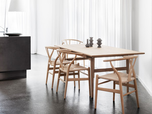 Carl Hansen CH327 Dining Table and CH24 Chair Set