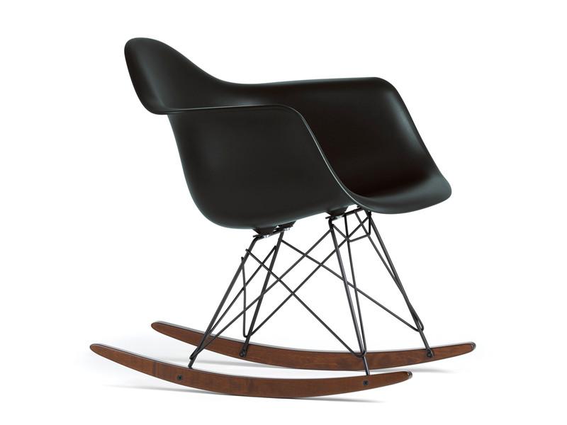 Buy the Vitra RAR Eames Plastic Armchair Black at Nest.co.uk