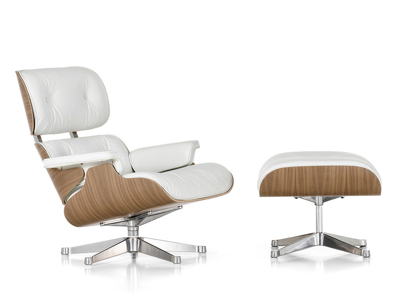 Vitra Eames Lounge Chair & Ottoman - White
