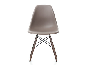 Vitra DSW Eames Plastic Side Chair Dark Maple Base