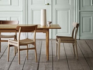 Carl Hansen CH327 Dining Table and CH23 Chair Set