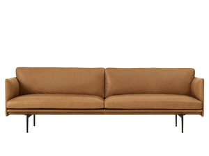 Muuto Outline Three Seater Sofa Leather