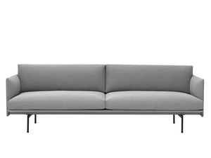 Muuto Outline Three Seater Sofa in Steelcut Trio Fabric