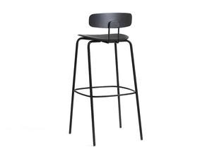 Zeitraum Okito Bar Stool with Backrest