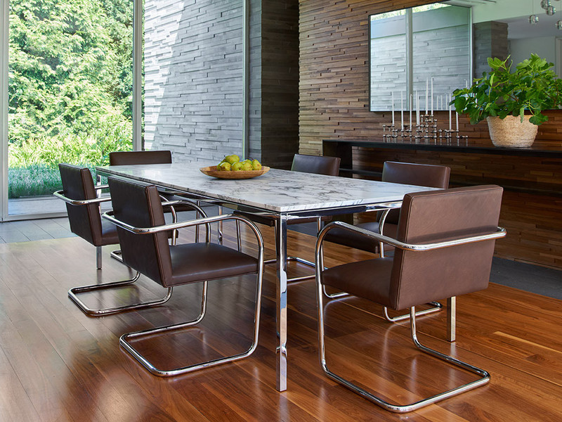71c18ea79962 Buy the Knoll Studio Florence Knoll Dining Table Statuarietto Marble ...