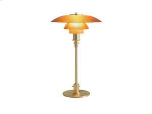 Louis Poulsen PH 3/2 Amber Glass Table Lamp Limited Edition