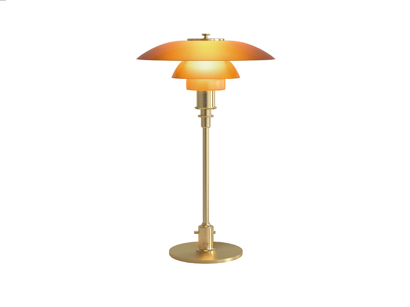 Buy The Louis Poulsen Ph 3 2 Amber Glass Table Lamp Limited Edition