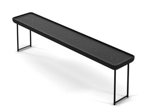 Cassina 381 Torei Side Table Black Ash