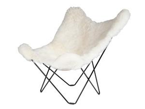 Cuero Design Sheepskin Butterfly Chair - Iceland Mariposa