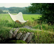 Cuero Design Hemp Canvas Butterfly Chair - Canvas Mariposa