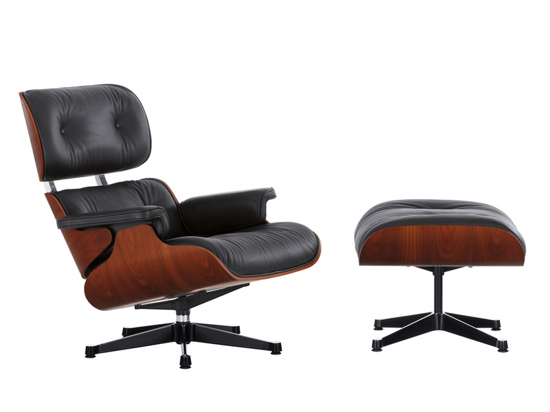 Vitra Eames Large Lounge Chair & Ottoman Limited Edition Mahogany