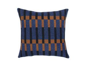 Eleanor Pritchard Dovetail Cushion - Indigo Face