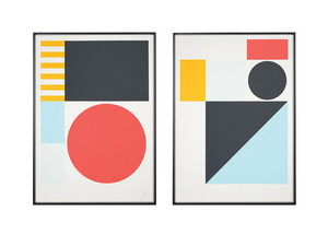 Tom Pigeon Play Pair Screen Prints