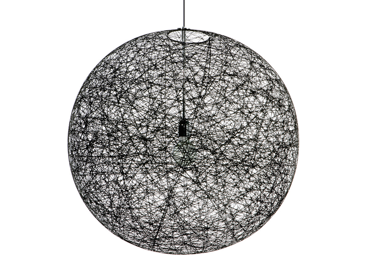 Buy the moooi random suspension light black at for Suspension boule noire