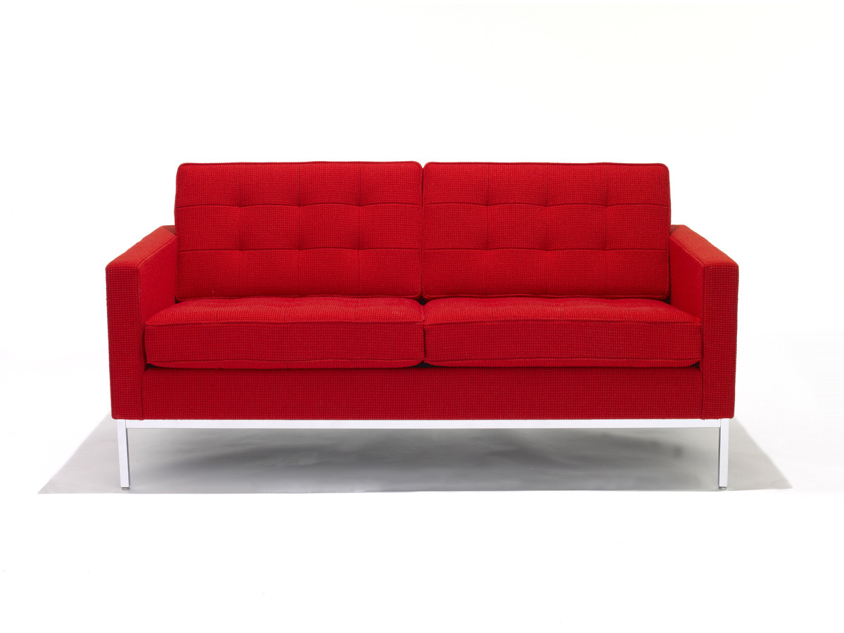 buy the knoll studio knoll florence knoll two seater sofa at nest  - knoll florence knoll two seater sofa
