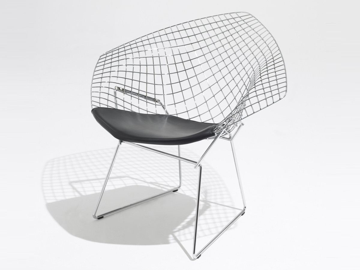 Exceptionnel ... Knoll Diamond Armchair In Leather. 123
