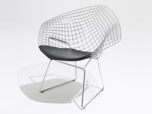 Knoll Diamond Armchair in Leather