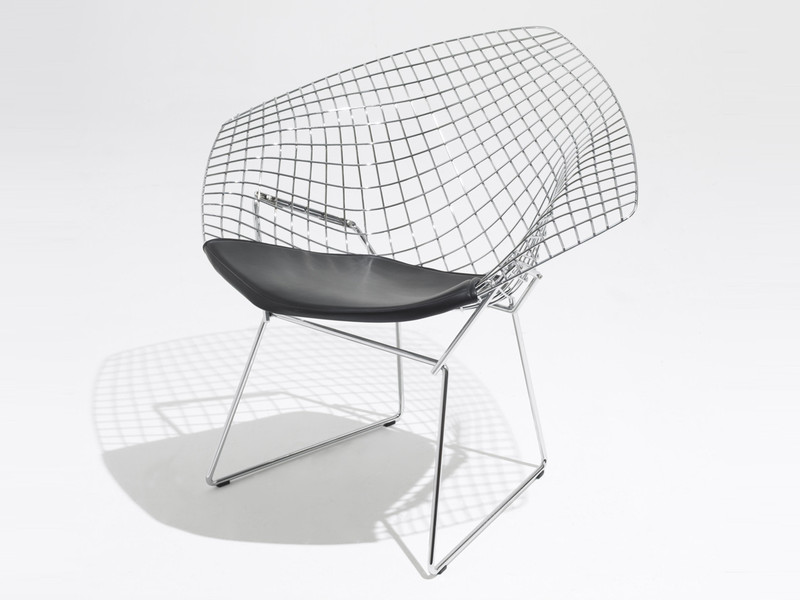 Buy the knoll studio knoll diamond armchair in leather at - Chaise de designer celebre ...