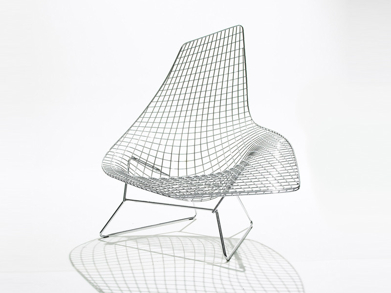 Buy the knoll studio knoll bertoia asymmetric chaise at for Bertoia asymmetric chaise