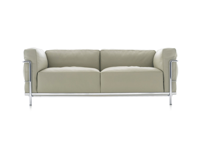 Buy the cassina lc3 two seater sofa at for Cheap modern sofas uk