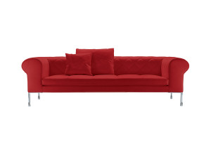 Zanotta 1320 Barocco Three Seater Sofa