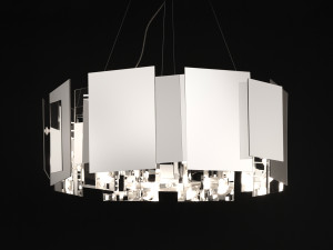 View Oluce Coroa Suspension Lamp