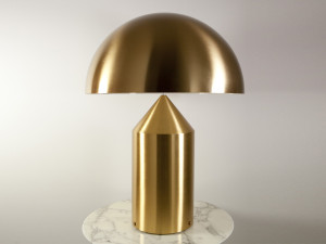 Oluce Atollo 233 Gold Table Lamp