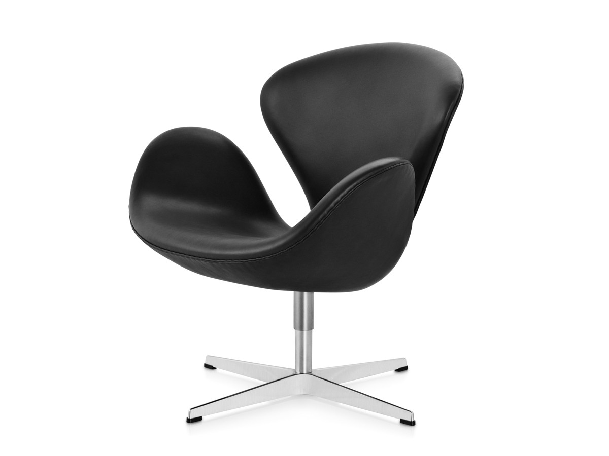 buy the fritz hansen swan lounge chair leather at. Black Bedroom Furniture Sets. Home Design Ideas