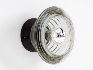 View Tom Dixon Pressed Glass Bowl Wall Light