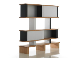 View Cassina 518 Plurima High Bookcase