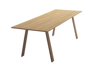 Cappellini Bac Table Rectangular White Stained Ash