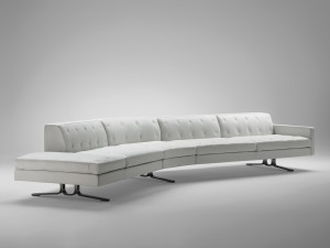View Poltrona Frau Kennedee Curved Sofa
