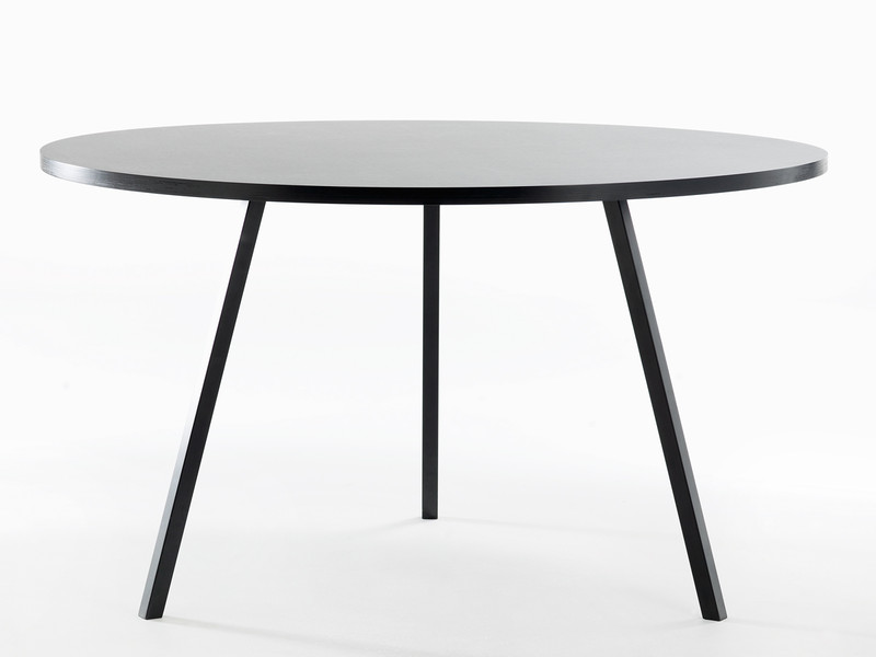 black round table. Hay Loop Stand Round Table Black E