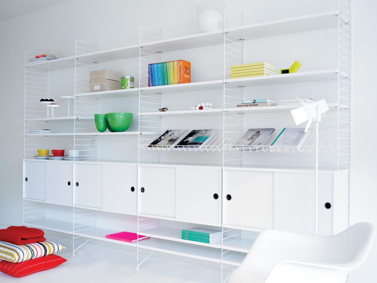 buy the string shelf system white white at