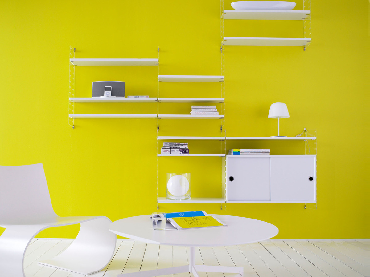 Buy the string shelf system white plexi at for Ikea tracking usa
