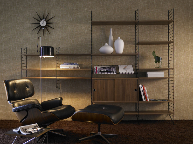 String Regal buy the string shelf system walnut black at nest co uk